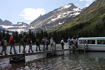 Loading the boat at Swiftcurrent Lake