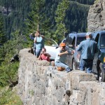 Travelers on the Going-to-the-Sun Road
