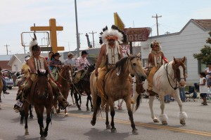 The parade at North American Indian Days in Browning