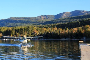 The Bachelor arrives via seaplane to The Lodge at Whitefish Lake. (Photo courtesy Brian Schott)