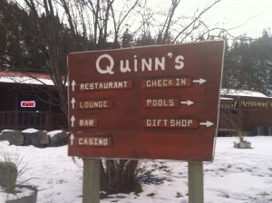 Getting my bearings at Quinn's Hot Springs Resort.