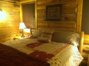 A cozy cabin.