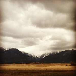 Even in a spring storm, the Mission Mountains take my breath away.