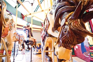 Celebrate the Carousel's birthday with a ride on one of the hand-carved horses.