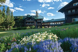 Glacier Park Lodge in East Glacier, Montana.