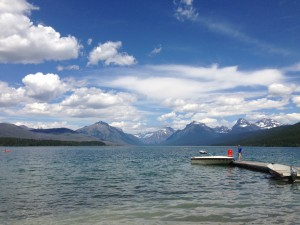 Lake McDonald in Glacier National Park is a stone's throw away from Apgar Campground.