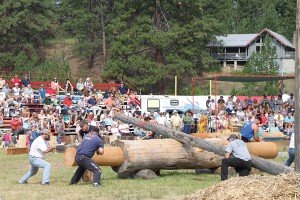 One of the logging competitions at Darby Logger Days.