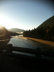 My mind wandered to this scene of the Flathead River, taken last fall.