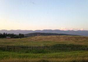 The view from a Montana backroad.