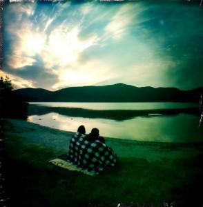 Watching the sunrise at Tally Lake.