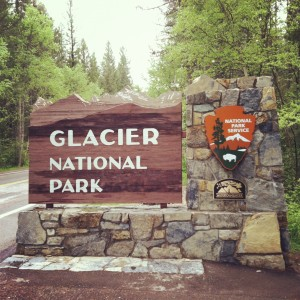 The west entrance to Glacier National Park.