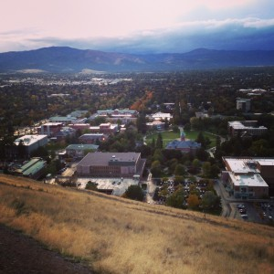 Looking out over Missoula from Mount Sentinel.