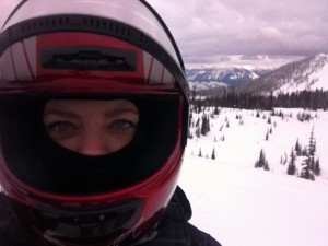 Snowmobiling with Swan Mountain Outfitters.