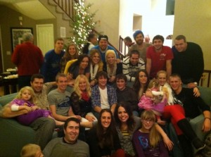 A few cousins at a recent Christmas Eve gathering.