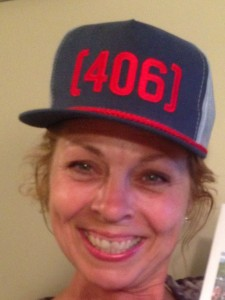 My mama modeling her very own 406 hat.