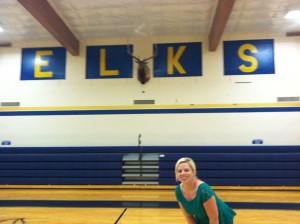 Visiting my hometown. Go Elks!