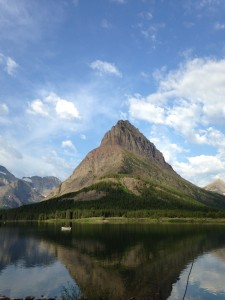 Soaking up the grandeur of Glacier National Park.