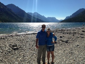 Visiting Waterton Lakes National Park with my baby brother.