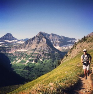 Collin trail running in Glacier National Park last summer. Photo: Joe Johnson
