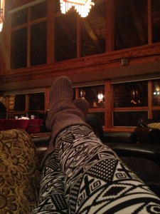 Kicking back in the great room.