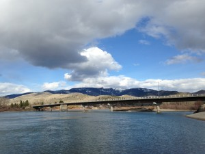 The Clark Fork River winds through the aptly named community of Paradise.
