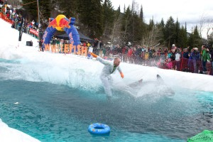 Pond skim in Whitefish. I know you don't want to miss this, pal. Photo courtesy: Whitefish Mountain Resort