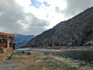Looking downstream the Clark Fork River.