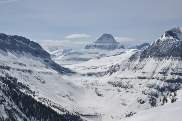 The view toward Logan Pass and the Going-to-the-Sun Road on May 14.  Photo courtesy: GlacierNPS