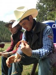 'Just doing cowboy stuff.