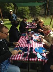 Lunch tastes better when it's served in an open meadow.