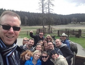 As part of our wagon ride, we also took a group selfie.
