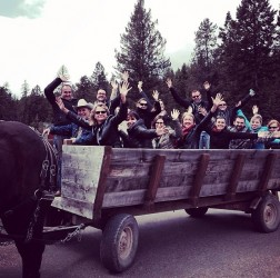 We loaded up and headed out for a wagon ride.