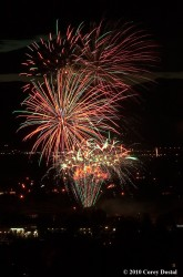 The fireworks over Southgate Mall.  Photo: Courtesy Destination Missoula/Corey Dostal