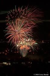 The fireworks over Southgate Mall.  Photo: Courtesy Destination Missoula/Corey Dostal