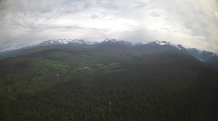 The view toward the park's peaks from the North Fork. One word: incredible.