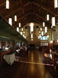 The Ptarmigan Dining Room at Many Glacier Hotel.