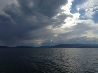 A summer storm rolled over the lake.