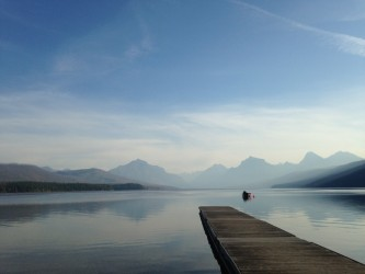 A perfectly calm morning on Lake McDonald.