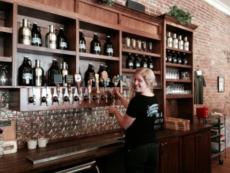 The only female-owned brewery in Montana: Cabinet Mountain Brewing Company in Libby.