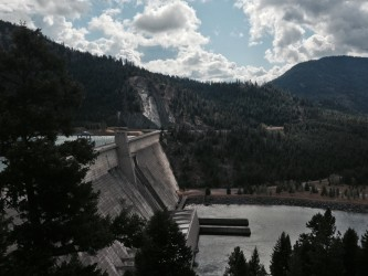 A peek at Libby Dam.