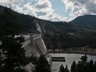A peek at Libby Dam.