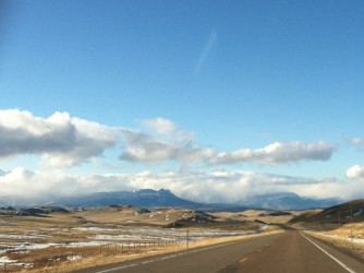Blue sky over Montana's Rocky Mountain Front.